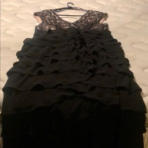 Dresses & Skirts - Ruffle dress with lace top detail.
